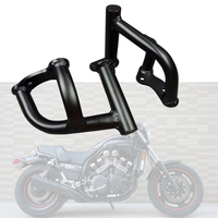 Motorcycle Metal Engine Guard Crash Bar Bumper Guard Bar Matte black For YAMAHA VMAX 1200