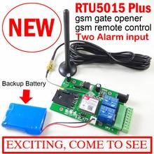 GSM بوابة فتاحة التتابع التبديل التحكم عن بعد باب الوصول المدمج في بطارية احتياطية للطاقة قبالة التنبيه upكامل RTU5015 مع التطبيق