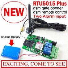 Portão GSM Abridor de Porta de Controle de Acesso Interruptor do Relé de Controle Remoto Build in bateria de backup para alarme desligar Upgrated RTU5015 com o APP