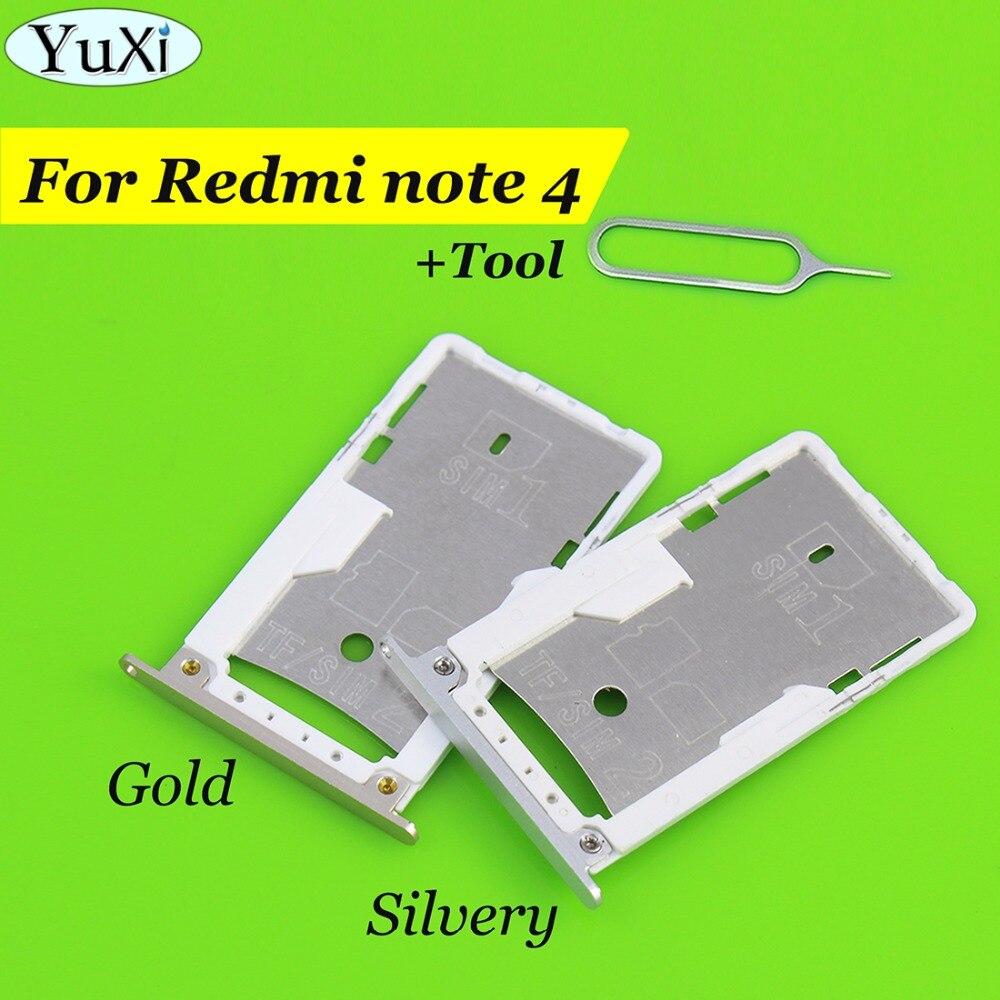 YuXi For Xiaomi for Redmi Note 4 Nano SIM/ Micro SIM Card Tray Holder Micro SD Card Slot Holder Adapter for redmi Note4