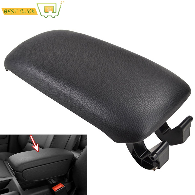 Cooldiscovery Black Leather Armrest Center Console Cover Storage Box For A3 8P 2003-2012