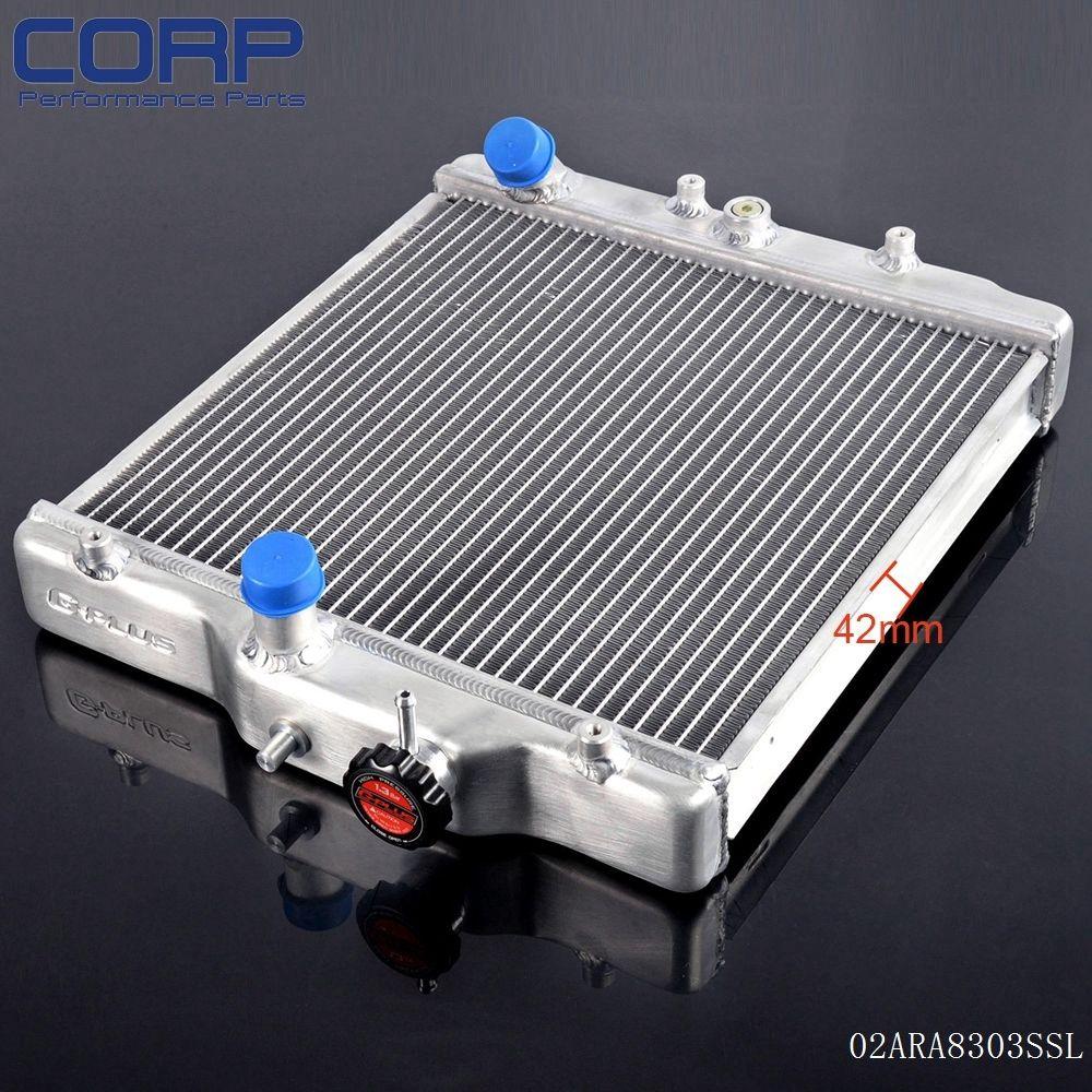 2 Row Aluminum Racing Radiator For 92-00 CIVIC EJ/EK/DEL SOL D15 D16 SOHC