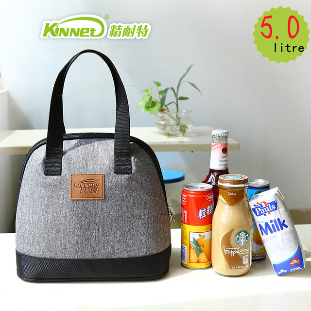 KinNet lunch bags for women thick thermal lunch bags for kids aluminum foil tote bag waterproof portable insulated Cooler bag