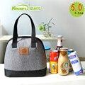 Kinnet bolsas de almuerzo para las mujeres gruesas térmica loncheras para niños bolso de mano portátil a prueba de agua de papel de aluminio con aislamiento bolso más fresco