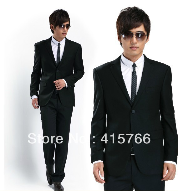 New Black Men\'s Bridegroom Prom Clothing Party Apparel suits ...