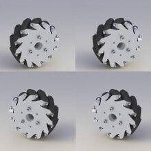 2 слева, 2 справа) 5 дюймов/127 мм алюминиевые колеса Mecanum(4 шт.)/подшипниковые ролики 14193