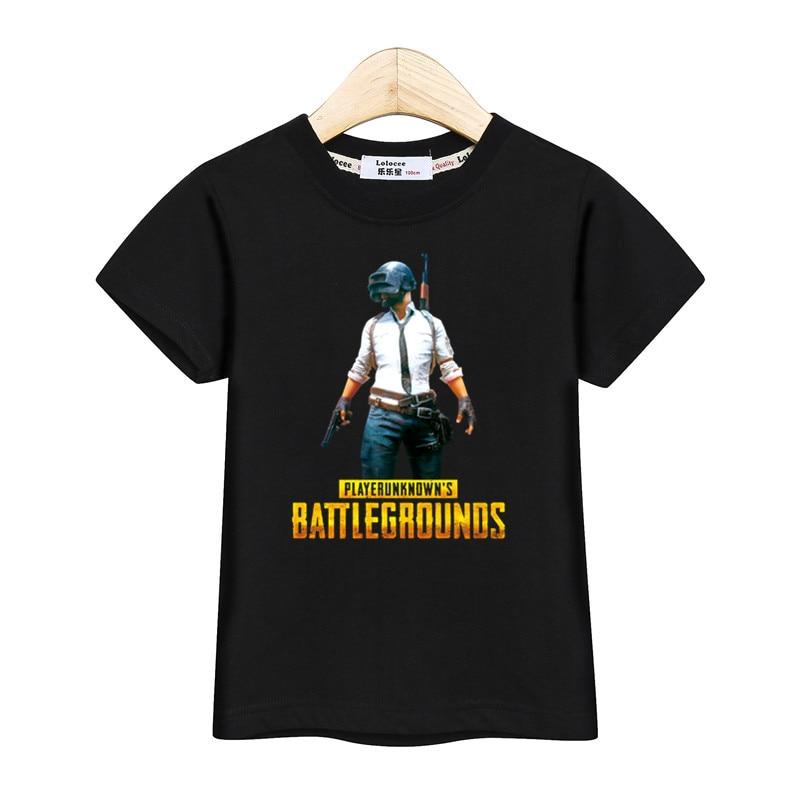 Cool Playerunknown S Battlegrounds T Shirt Large Size: 2018 Junior Boy PLAYERUNKNOWNS BATTLEGROUNDS 3D Tshirt