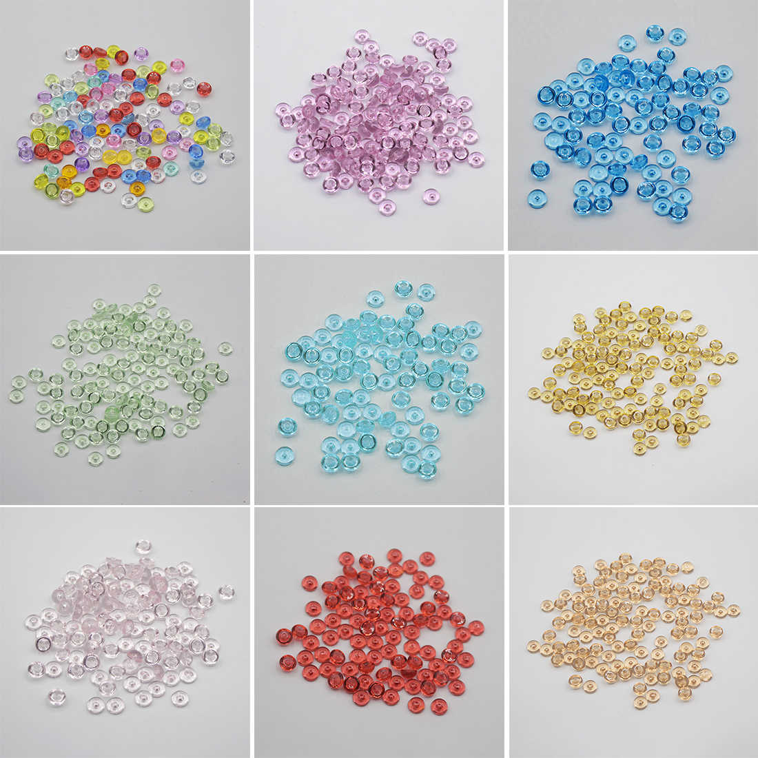 500pcs/Bag Fishbowl Beads DIY Slime Decoration 7mm Diameter For Craft Tools Home Decoration with 11 Colors
