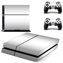 Pure Color White Black PS4 Skin Sticker Decal Vinyl for Playstation 4 Console and 2 Controllers PS4 Sticker цена