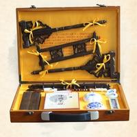 Новое китайское искусство набор для живописи каллиграфии подушечка Кисть ручка печать четыре драгоценности ученого лучший подарок для худ...