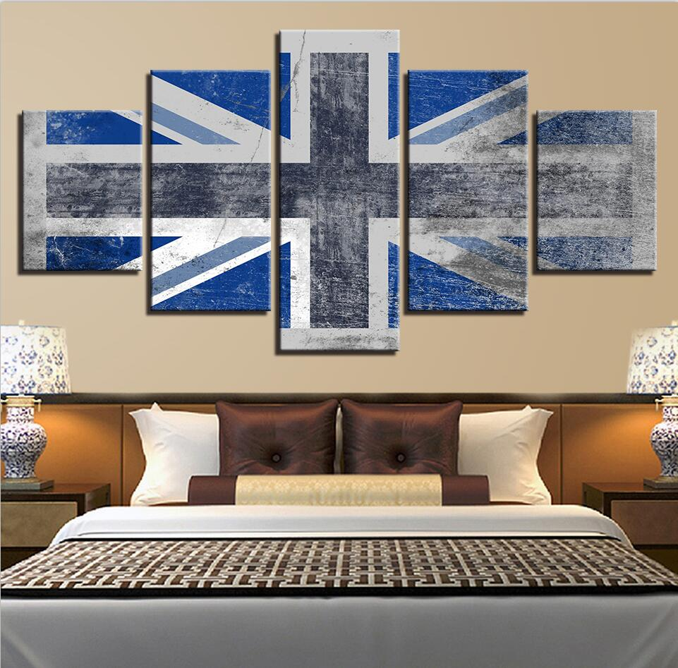 Home Decor Nation: Home Decor Living Room Pictures Modern Canvas 5 Pieces