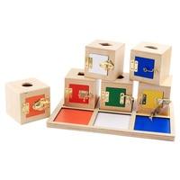 NEW Montessori Sensory Teaching Baby Multifunctional Learning Unlock Box Children's Building Blocks Geometric Shape Pairing Toys
