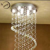 Plafonniers en cristal de style européen moderne GU10 Plafonnier LED lampe de réception pour salon chambre restaurant hôtel bar