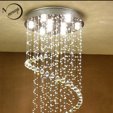 Modern Europe style crystal ceiling lights GU10 Plafonnier LED lustreceiling lamp for living room bedroom restaurant hotel bar(China)