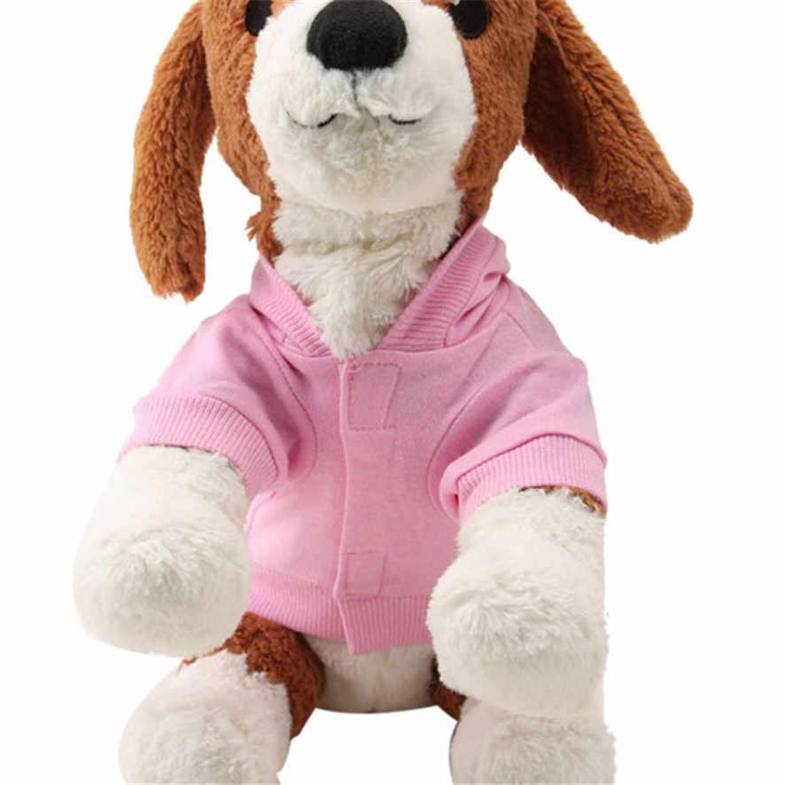 Sıfır 2017 Yeni Pembe Pet Köpek Giyim Taç Desen Köpek Giyim Coat Kapşonlu Pamuk T Gömlek Satın Alma YENI B7718