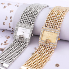 Часы брендовые Роскошные повседневные женские круглые часы с бриллиантовым браслетом Аналоговые кварцевые наручные часы Прямая поставка