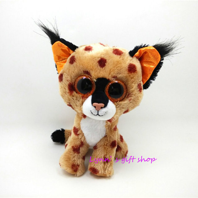 068be6173fc New Original Ty Beanie Boos Big Eyed Stuffed Animal Buckwheat - brown lynx  Plush Doll Kids Toy 6   15cm Birthday Gift