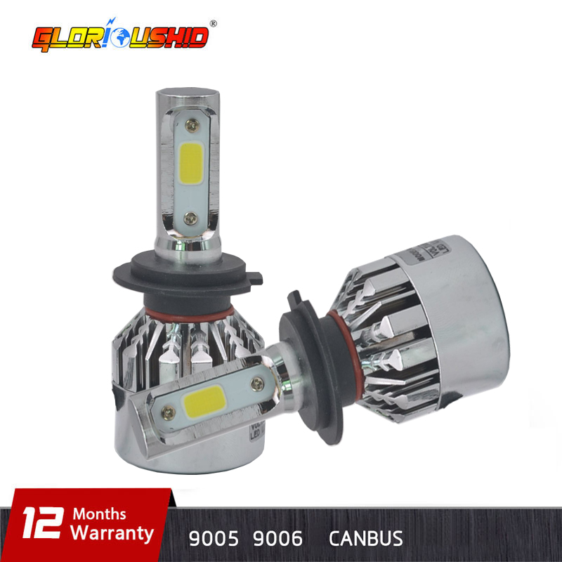 цена на 2 pieces H7 Led H4 H1 H3 H11 H8 H9 9005 HB3 9006 HB4 Car Headlight Bulb super brightness fog lights Auto Lamp white 6500K 12V