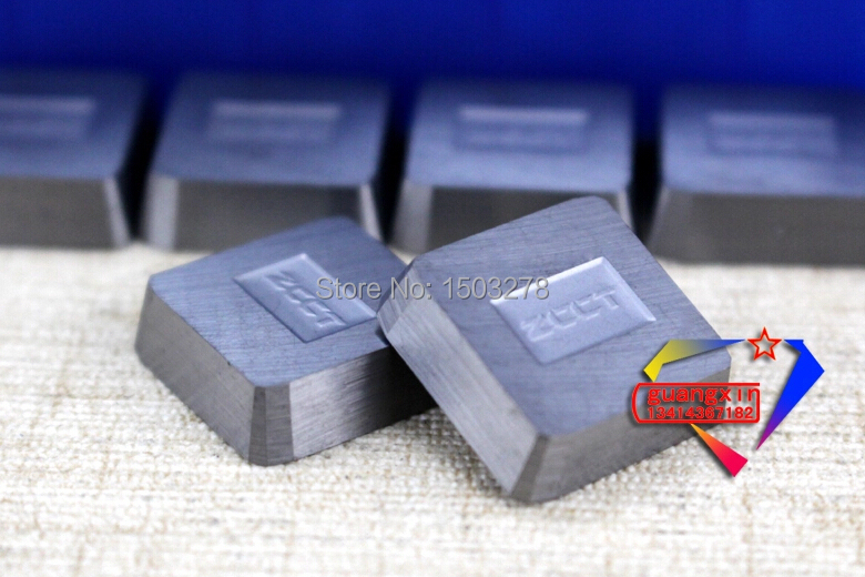 YW1 4160511 Zhuzhou cementált keményfém, 30 db / dobozban marógép klip pengével, négyzet alakú marómaró rozsdamentes acélhoz