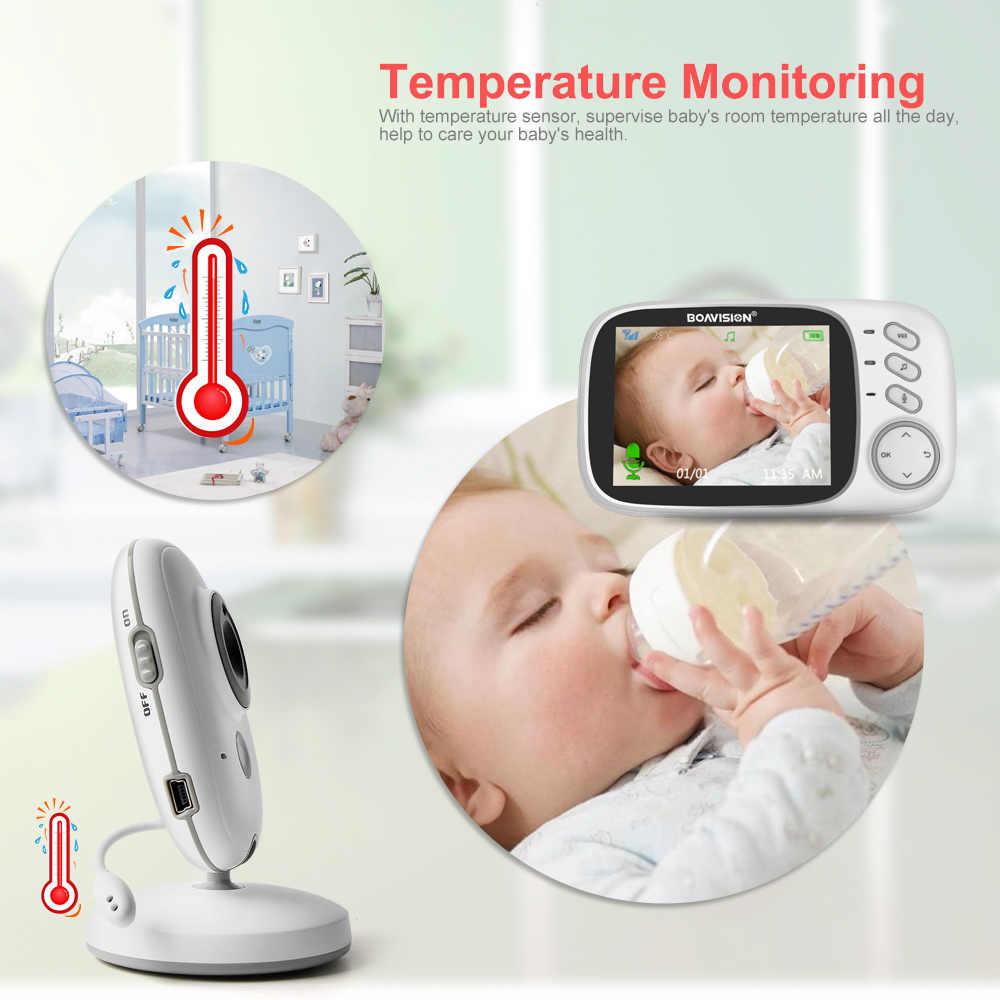 VB603 Video Monitor de bebé 2,4G inalámbrico con 3,2 pulgadas LCD 2 vías Audio hablar visión nocturna vigilancia cámara de seguridad niñera