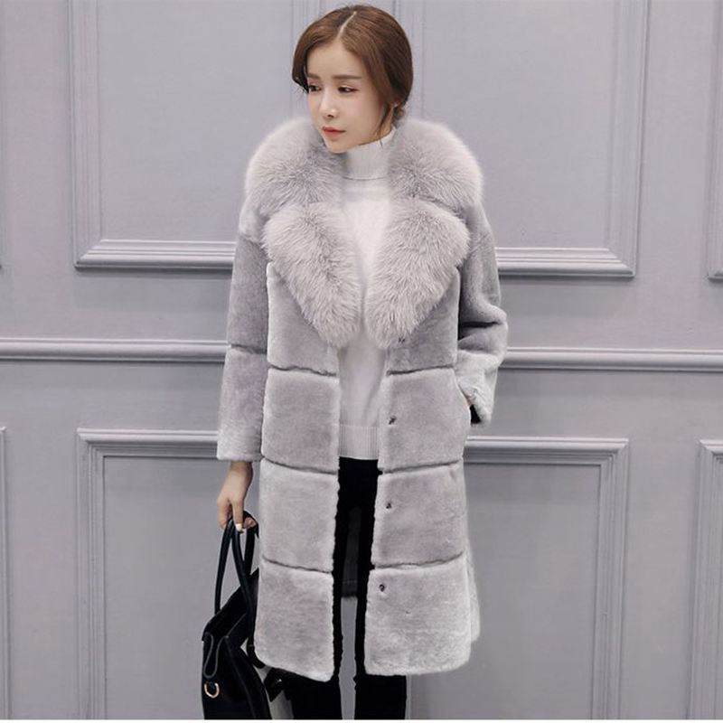 Faux Fur Long Coat female Artificial fur Long Coat Jacket Plus Size Faux Fur Women Outerwear Winter overcoat Women Vest Fur coat pearl beading textured faux fur coat
