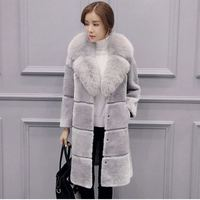 Faux Fur Long Coat female Artificial fur Long Coat Jacket Plus Size Faux Fur Women Outerwear Winter overcoat Women Vest Fur coat