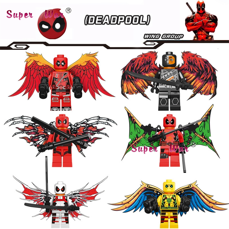 Blocks Toys & Hobbies 20pcs Superhero Marvel Dc Comics X-men Deadpool Forces Weapons Figures Building Blocks Bricks Models Learning Mcu Baby Toy