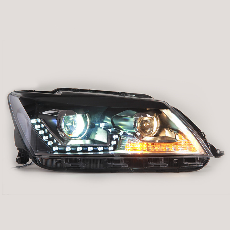 Newest Type Car Accessories for Volkswagen Santana Head Lamp Headlight Modify Custom 2013-2016