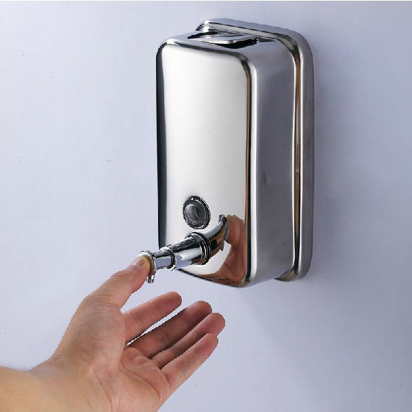 Liquid Soap Dispensers 1000ml Wall Mounted Stainless Steel Soap