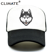 CLIMATE Men Wolf Trucker Caps Wolves Totem Hat Cap
