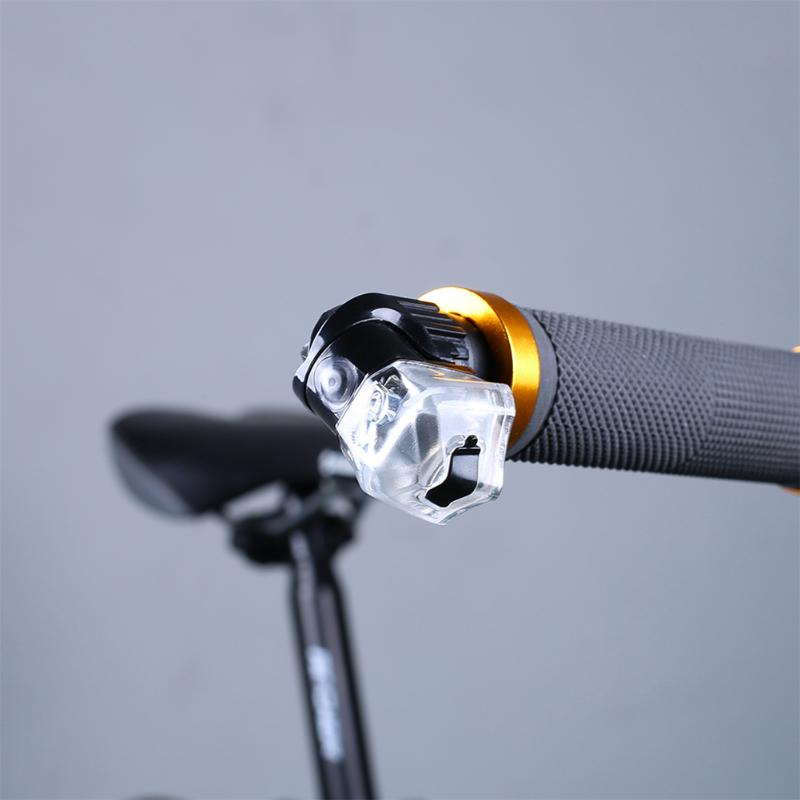 Bike LED Handlebar Light End Plug Warning Lamp MTB Road Night Cycling Safety Lamp Bicycle Accessories cycling bike bicycle handlebar tape belt wrap w bar plug yellow camouflage 2 pcs