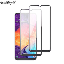 2PCS Full Glue Glass For Samsung Galaxy A50 Tempered Screen Protector Front Film