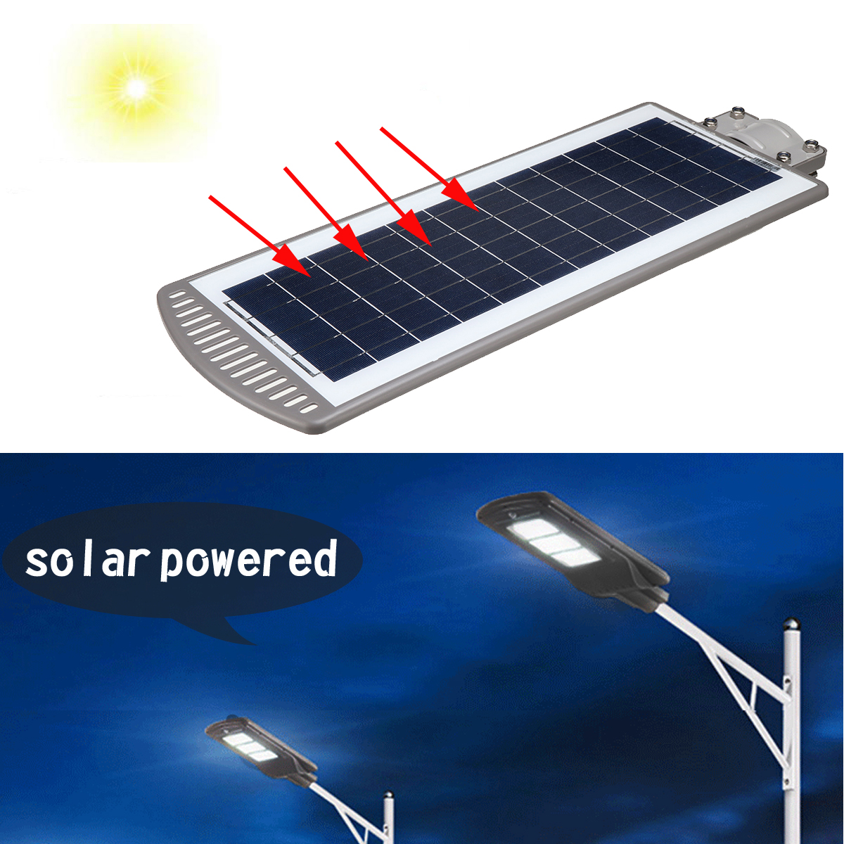 60W LED Sensor Solar Powered Wall Street Light Lamp PIR Motion Lamp Aluminum Alloy Wterproof IP67 for Outdoor Path Lighting new packer casting pole eva pistol grip handle excellent for bait casting fishing rod trolling fishing rod