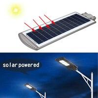 60W LED Sensor Solar Powered Wall Street Light Lamp PIR Motion Lamp Aluminum Alloy Wterproof IP67 for Outdoor Path Lighting