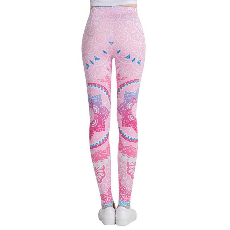 Hot Women Digital Printed Full-Length Yoga Workout Leggings Elastic Tight Capris Pants DO2