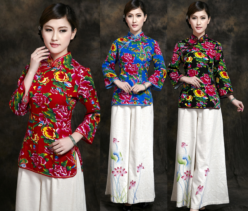 Free shipping!Hot Sale New Arrival Chinese Tradition Cotto Women's Shirt Blouse Tops M L XL XXL 3XL
