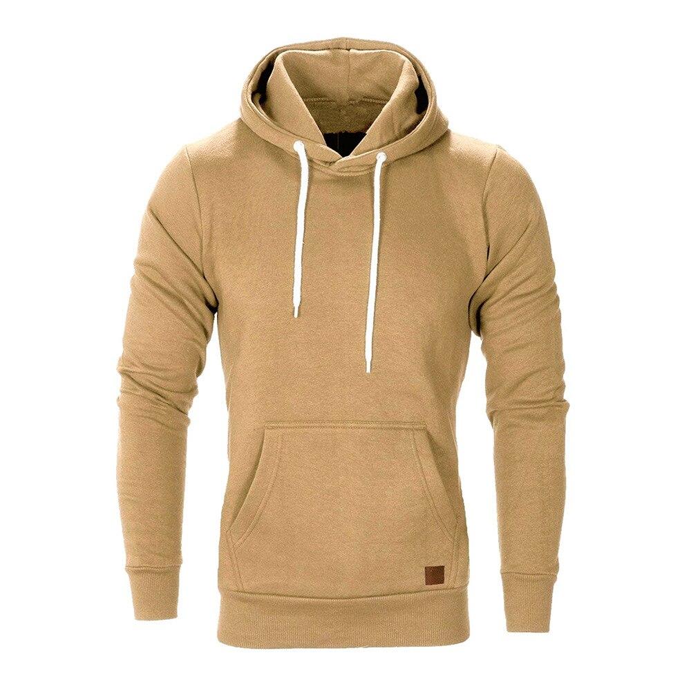 Brand Male Hoodies Top Pullover for Autumn Men Sweatshirt Clothe Long Sleeve Pocket Warm Hooded Sweatshirt Tracksuits Winter