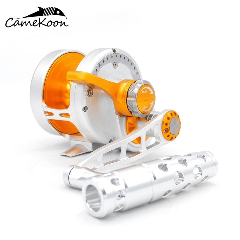 CAMEKOON agua salada palanca arrastre pesca carretes 10 rodamientos Ultra suave mano izquierda carrete de arrastre