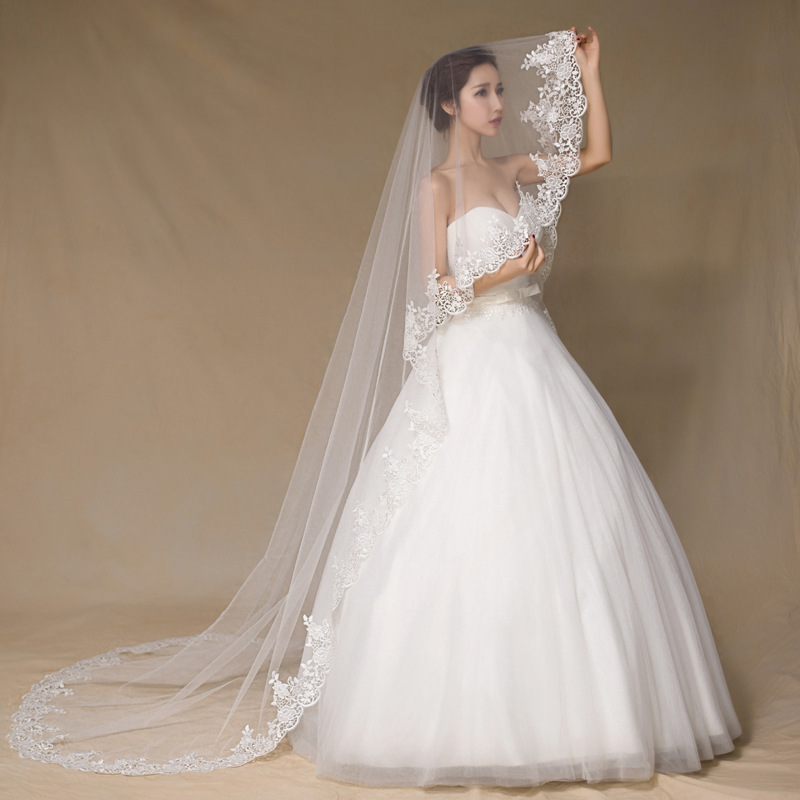 Online Get Cheap Long Wedding Veils Aliexpress