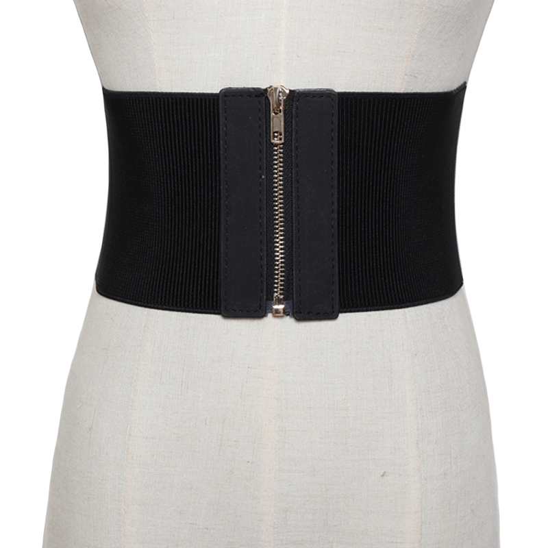 2019 new Fashion Knitted Elasticity Waist Female Belts For Women Cummerbund Good Quality Corset Bodycon Slim Wide Belt