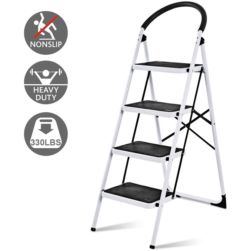 Folding Heavy Duty Industrial Domestic Lightweight 4 Step Ladder Anti-Slip Step Pedals Ladders TL32765