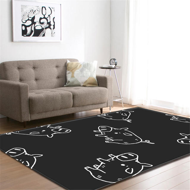 3D Decorative Runner Area Rug Bedroom Living Room Floor Carpet Baby Crawl Mat