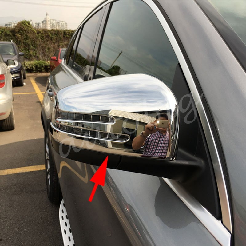 Prix pour 2X Vue Arrière Rétroviseur Side Mirror Cover Pour Mercedes W166 C292 X166 GLE Wagon Coupé GL Classe Chrome Accessoires