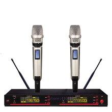 SKM 9000 5200 стиль UHF диапазон частоты Регулируемый двойной Ручной вокальный караоке беспроводной микрофон системы