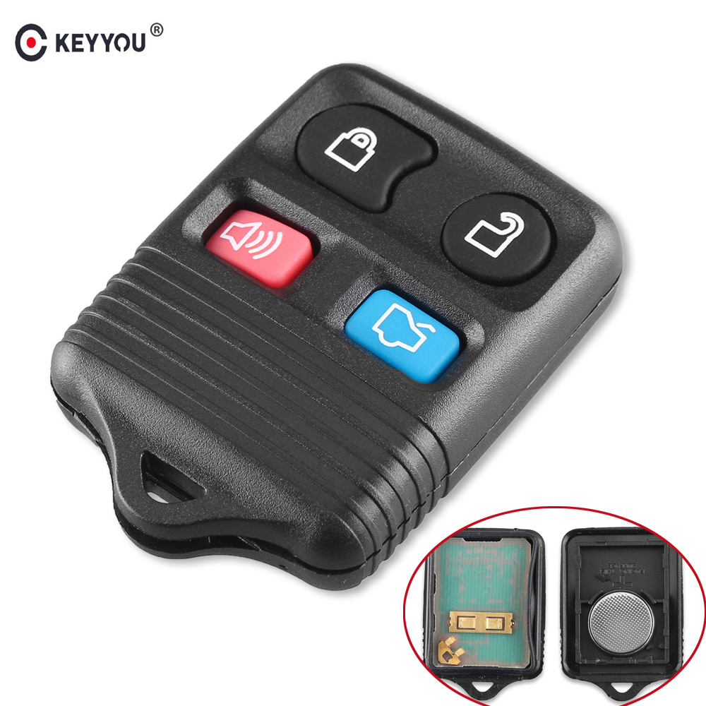 KEYYOU 4 Buttons Remote Car Key Transit Keyless Entry Fob 315MHz/433mhz For Ford Complete Remote Control Circuid Board 2003 03 ford taurus pink keyless entry remote 4 button