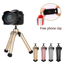 Ulanzi Coman Lightweight Mini Desktop Tripod Phone Holder Clip Desktop Self Tripod for DSLR Mini Camera