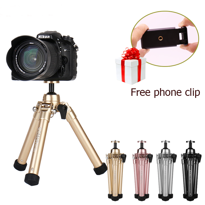 Ulanzi Coman Lightweight Mini Desktop font b Tripod b font Phone Holder Clip Desktop Self font