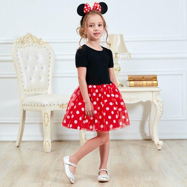 Bé Trẻ Em Cô Gái Quần Áo Váy Cho Cô Gái Dot Pattern Màu Đỏ Đầu Tiên Sinh Nhật Đảng Dress 1 2 3 4 5 Năm tutu Toddler Cô Gái Trang Phục