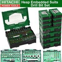 Japonia HITAHCI sterty osadzone garnitury zestaw wierteł zestaw słuchawkowy wkrętarko wiertarka elektryczna bity bity do wkrętarki akcesoria Bit w Akcesoria do elektronarzędzi od Narzędzia na