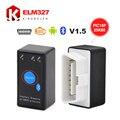V1.5 МИНИ ELM327 Bluetooth с Выключателем Питания ELM 327 Версия 1.5 OBD2/OBDII для Android Torque Автомобиль Кодекса Сканера БЕСПЛАТНАЯ ДОСТАВКА ДОСТАВКА